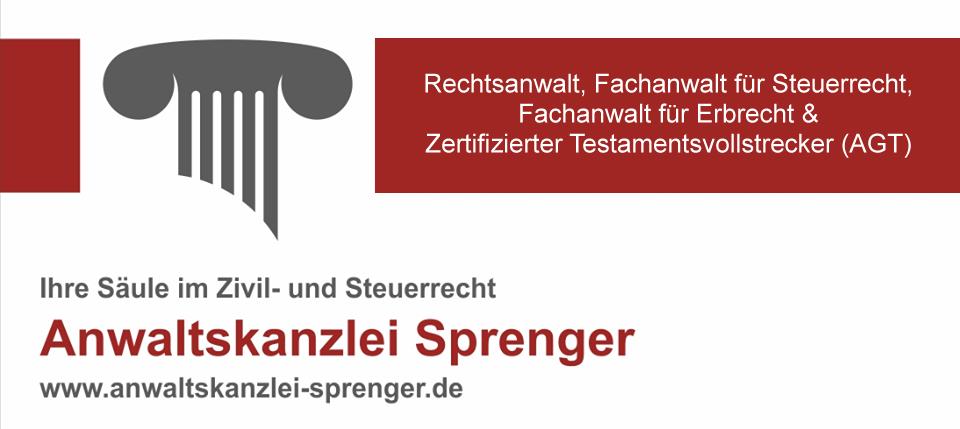 Rechtsanwalt Sprenger Logo gross